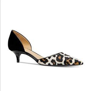 Michael Kors Alba Leopard Print Flex Kitten Pumps